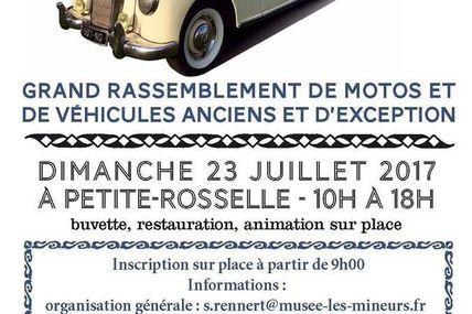 Petite-Rosselle Rétromobile des mineurs le 23 juillet