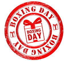 Boxing Day - December 26th