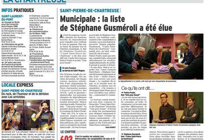 """La liste """"J'aime Saint-Pierre-de-Chartreuse"""" élue !"""
