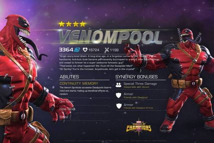 Marvel contest of Champions Next Area VenomPool !!!