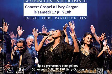 Concert Gospel le samedi 17 juin 18h - Livry Gargan