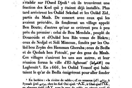 Question sur l'ethnologie de Laghouat
