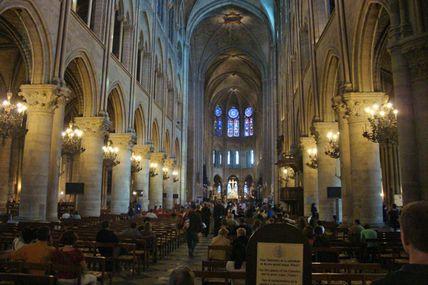 Visite à la cathédrale Notre Dame de Paris