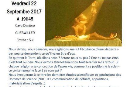"""Conference """"l'immortalité de l'âme et la doctrine des vies successives"""""""