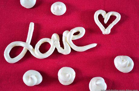... la meringue Saint-Valentin