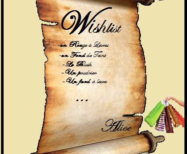 Wishlist et réalisation des désirs
