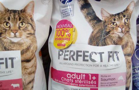100% remboursé:  Perfect fit, aliment chat ou chien, jusqu'au 31/08/2017