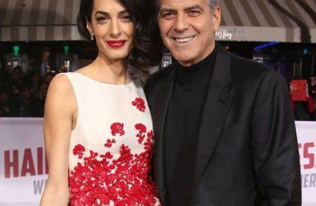 Carnet rose (et bleu) pour George et Amal Clooney