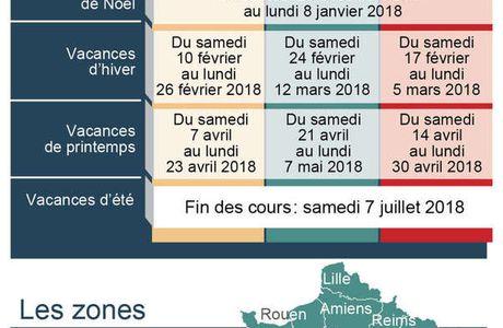 Calendrier scolaire 2017-2018.
