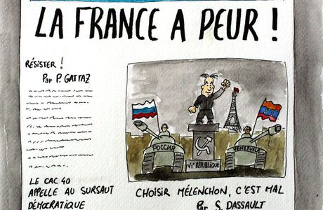 Le Figaro en campagne contre Mélenchon