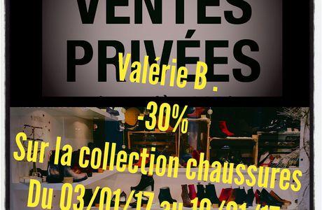 VENTES PRIVÉES VALERIEBCHAUSSURES -30% sur collection chaussures du 03/01/17 au 10/01/17