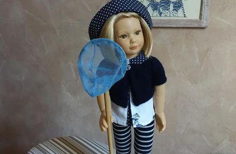 """Une tenue """"bord de mer"""" pour Jeanne poupée Kidz'n'cats"""