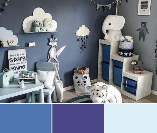 Décoration chambre enfant couleur bleu