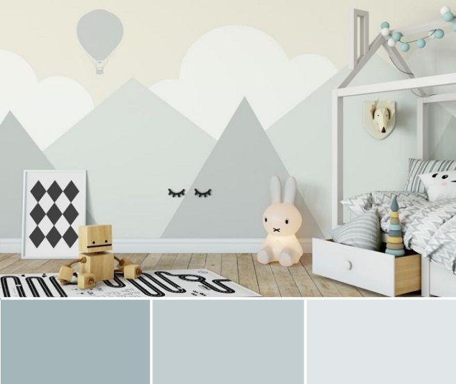 Décoration chambre enfant couleur gris