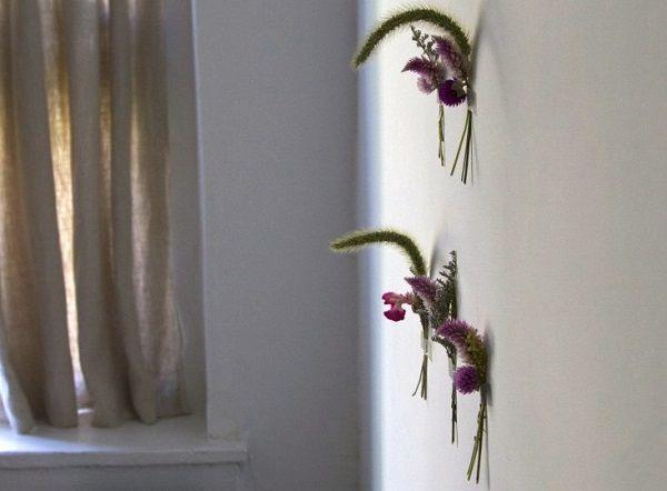 bouquet murale fleur séchée
