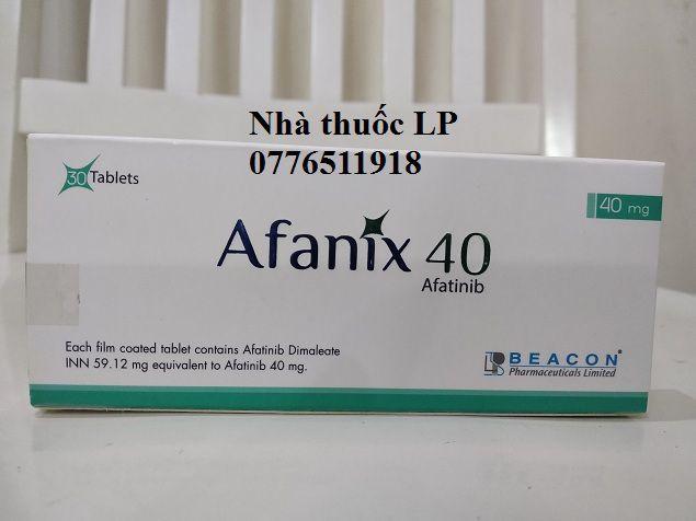 Thuoc Afanix 40mg Afatinib la thuoc gi Cong dung va lieu dung nhu the nao