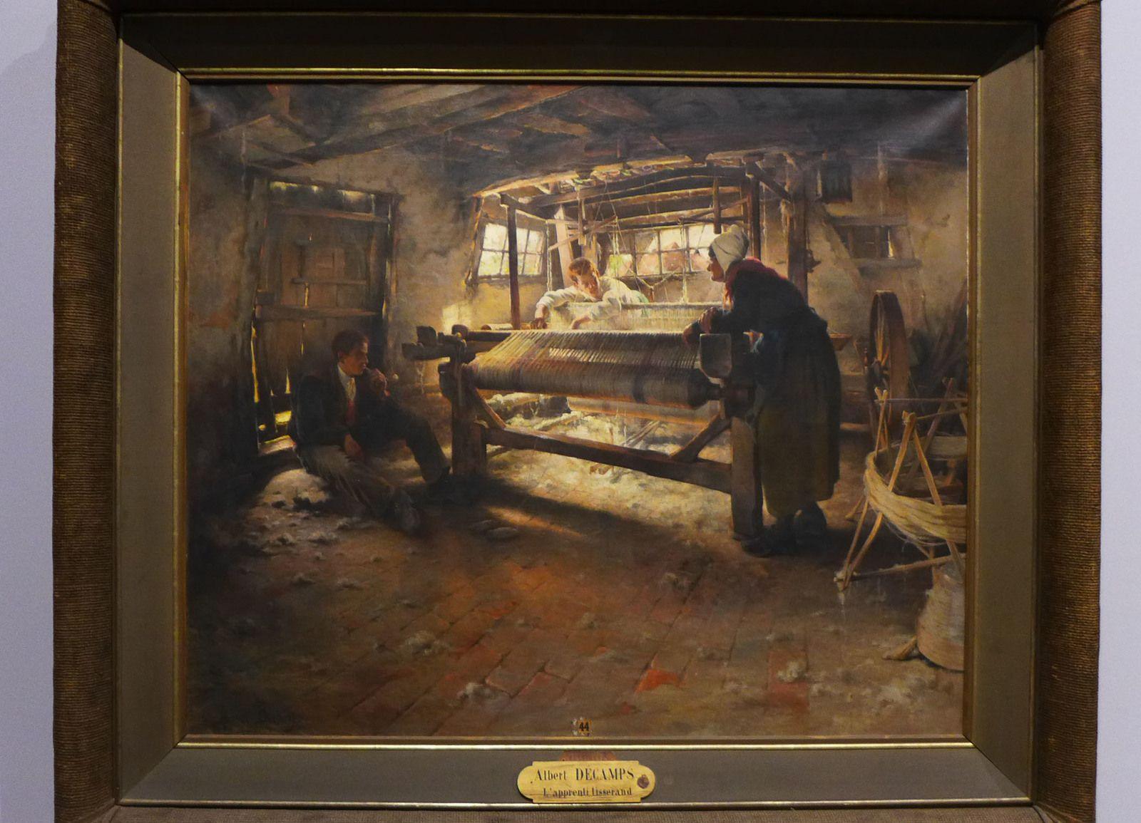Albert DECAMPS (1862-1908), L'Apprenti tisserand, Abbeville