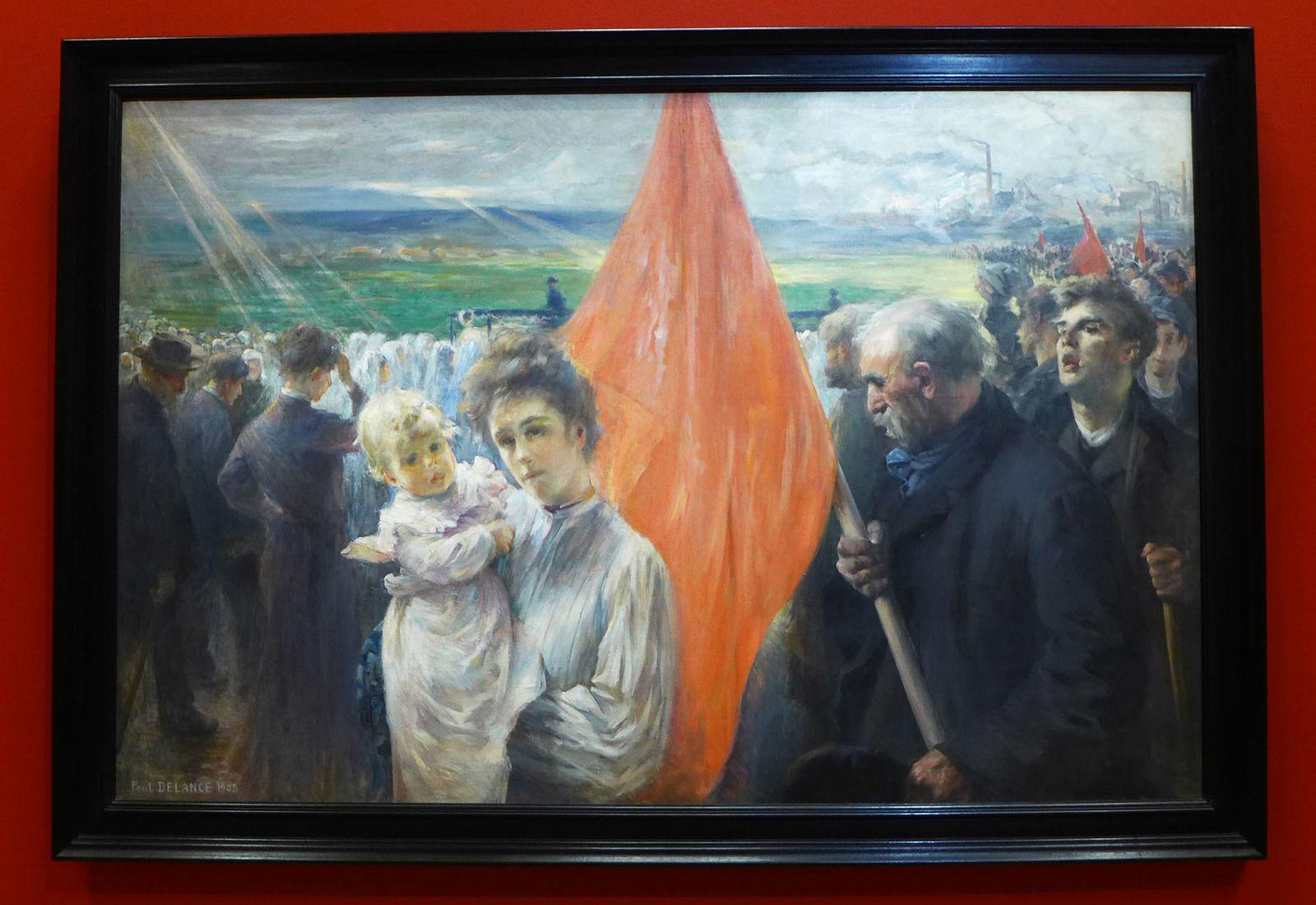 Paul-Louis DELANCE (1848-1924), Grève à Saint-Ouen (1908), Paris-musée d'Orsay