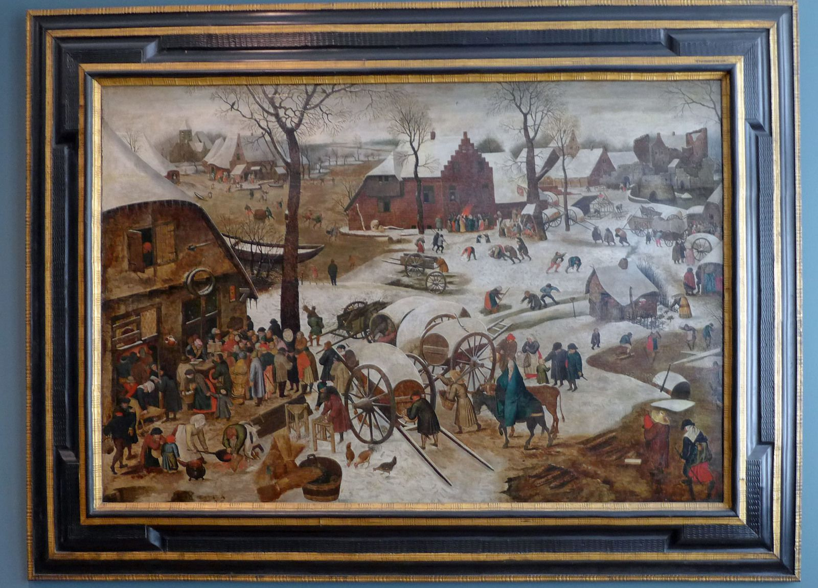 Pieter BRUEGEL LE JEUNE dit d'ENFER (1564-1638), Le Dénombrement de Bethléem