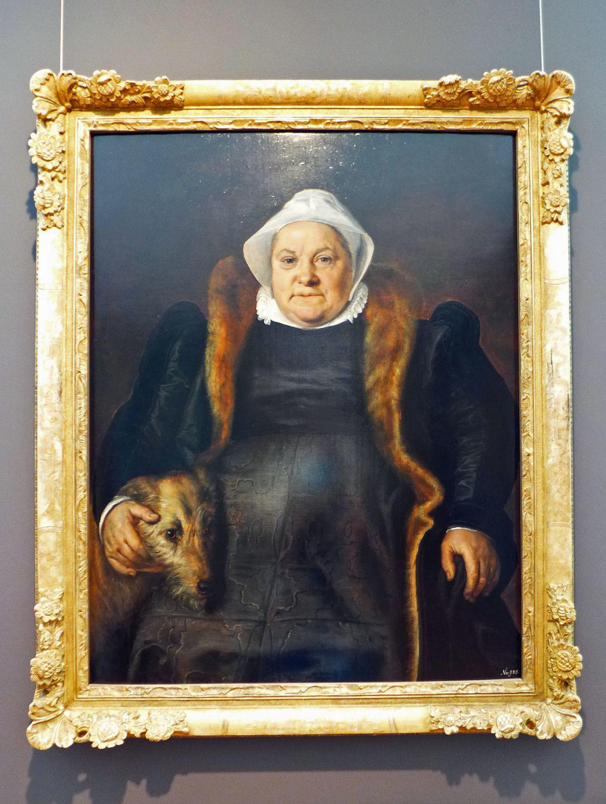 Floris de VRIENDT dit Frans FLORIS (1516-1570), Portrait de dame âgée (1558)