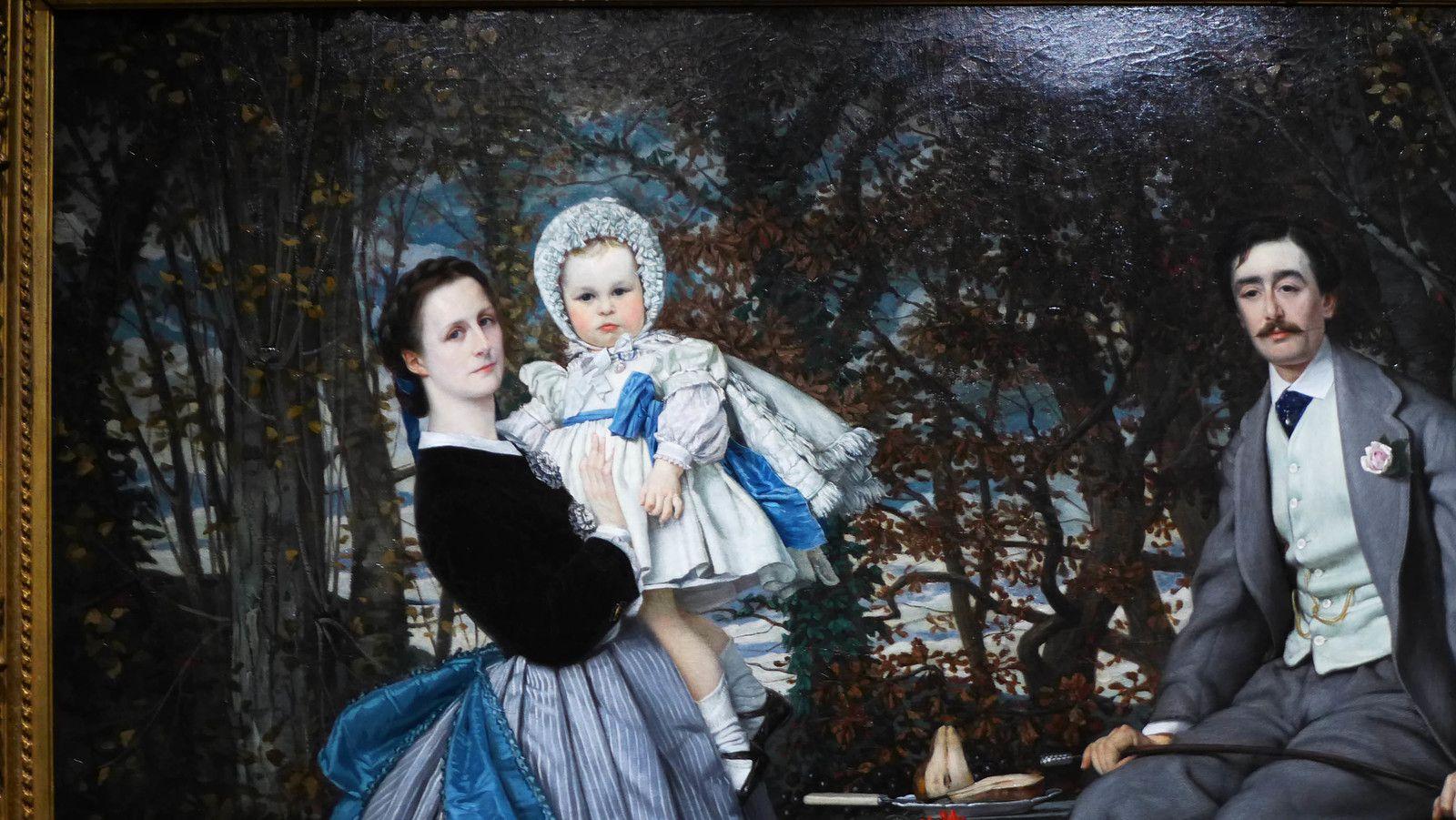 Le marquis et la marquise de Miramon et leurs enfants (1865), Musée d'orsay, Paris.