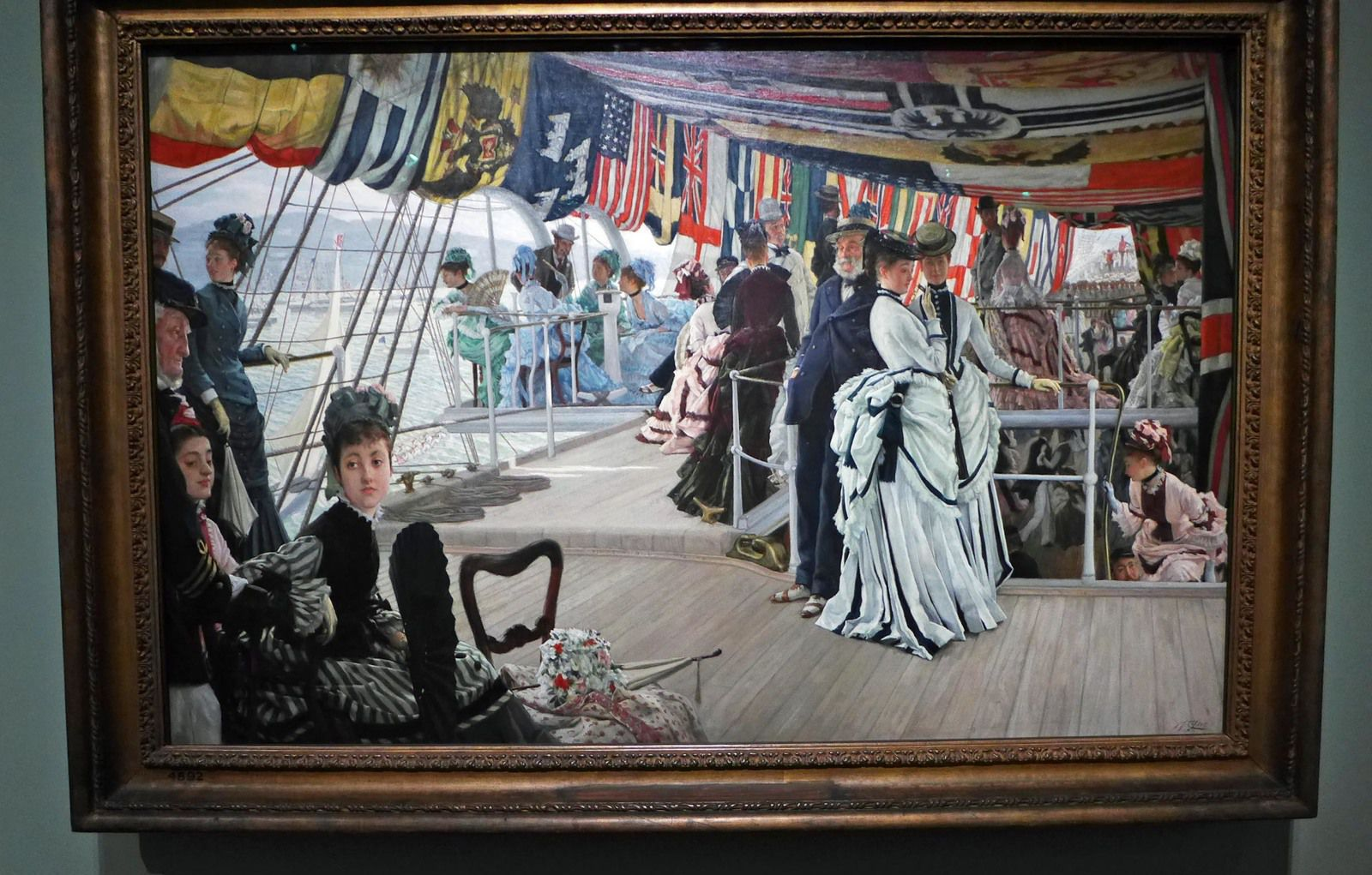 The Ball on shipboard (1874), Tate, Londres
