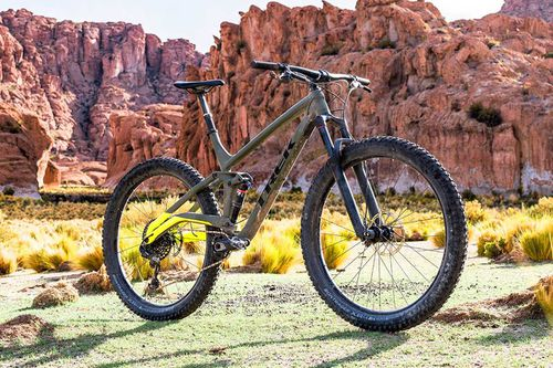 "Le Full Stache Trek : le nouveau Trek tout suspendu en 29 Plus ""Adventure Trail Bike""."