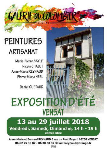 Exposition d'été à Vensat