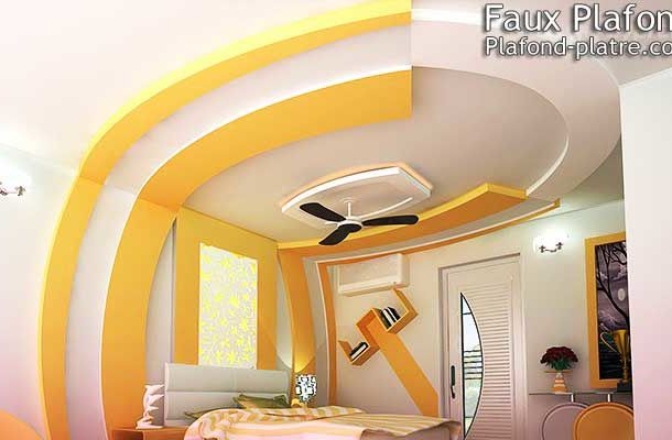 Decoration platre chambre fabulous faux plafond en pltre for Decoration platre chambre