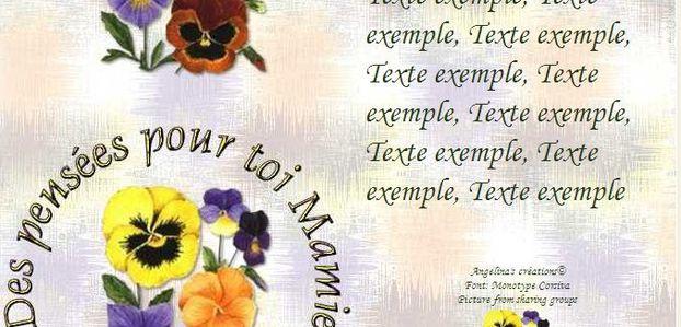 Des pensées pour toi Mamie Incredimail & A4 h l & outlook & enveloppe & 2 cartes A5 & signets des_pensees_pour_toi_mamie_pensees_20120303_00