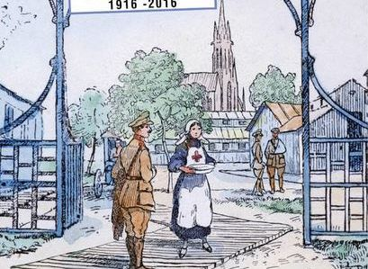 BONSECOURS (SEINE-MARITIME), UN HOPITAL MILITAIRE BELGE, 1916-1919.
