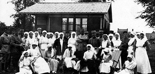 BELGIQUE LIBRE – Hôpitaux militaires (1914-1918)
