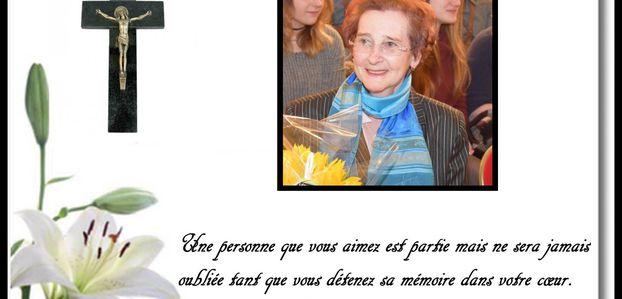 Les obsèques de Madame Danielle DESEURE .