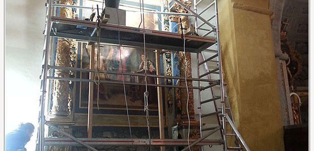 Castellane  : Restauration du retable de l'église Saint Victor