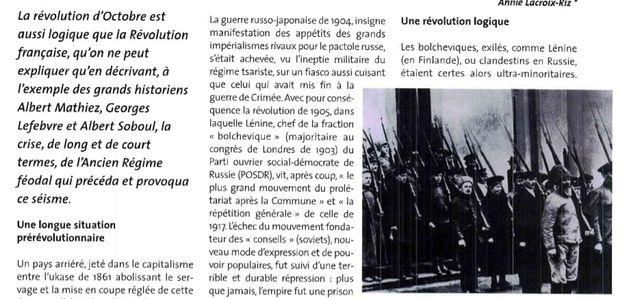 La Révolution d 'Octobre, normale ou monstrueuse?