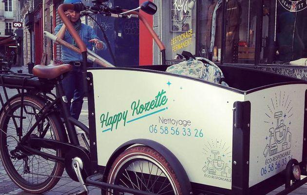 Happy Kozette, nettoyage éco-responsable en triporteur