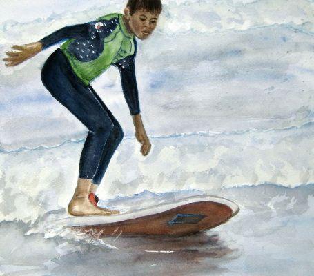 Défi : Jeune surfeur