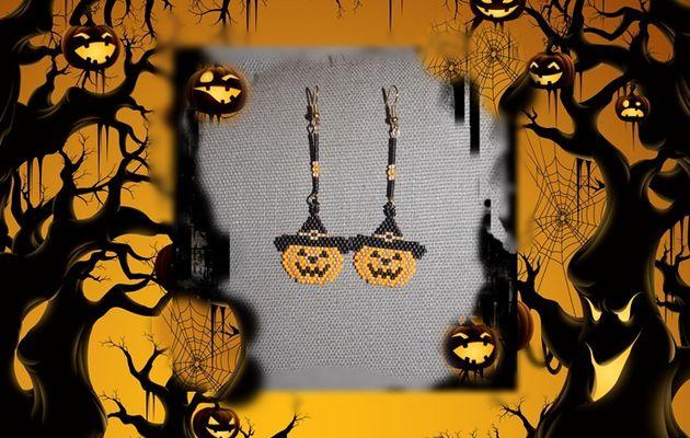 Délire d 'Halloween  en boucle d 'oreille