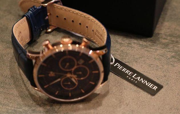 La montre Pierre Lannier pour homme Élégance Chrono Bleu