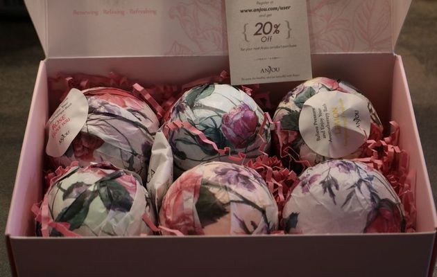 Le coffret cadeau de boules de bain effervescentes Anjou Naturals