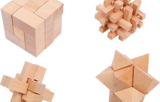 Puzzle logique, casse tête en bois