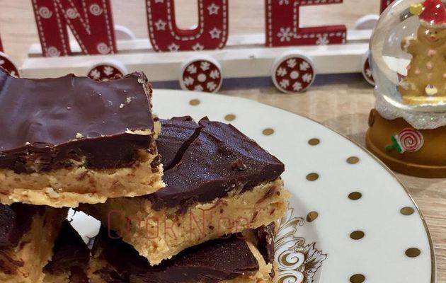 Bouchées au chocolat et beurre de cacahuètes