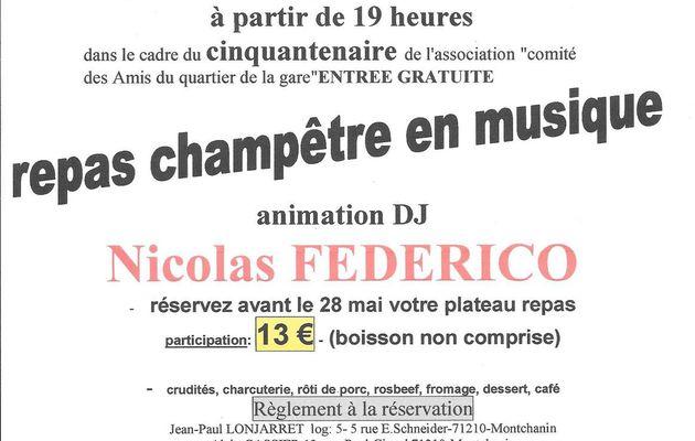 repas champêtre en musique- samedi 3 juin 2017
