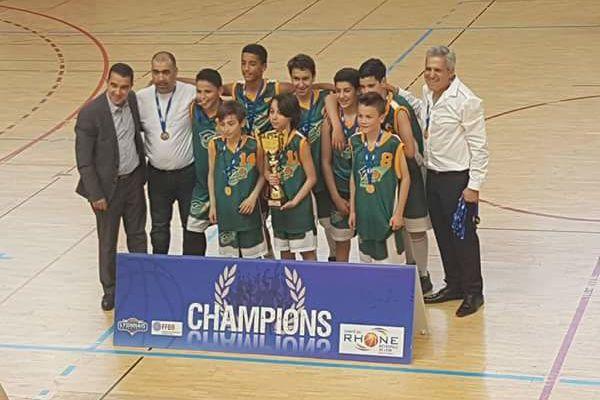 Les U13 garçons de l'AL Vénissieux Parilly Basket champions du Rhône et Lyon Métropole en D1.