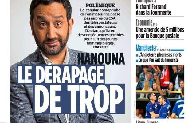 Et le Parisien qui réagit à l'affaire une semaine après...