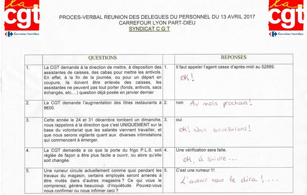 Questions  DP 13 avril 2017
