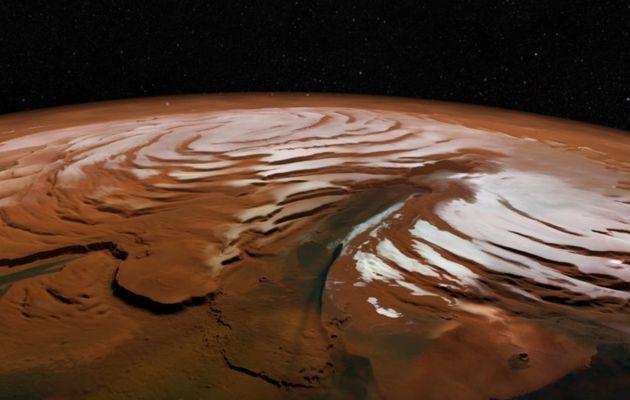 LA GLACE ET LE SABLE SUR MARS-ESA