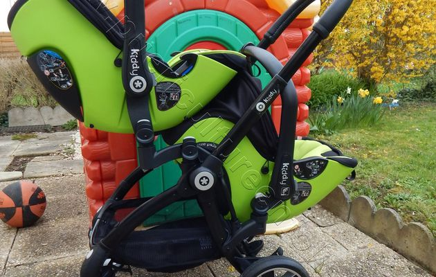 TEST POUSSETTE KIDDY EVOSTAR1 EN MODE DOUBLE / DUO 1 OU 2 ENFANTS