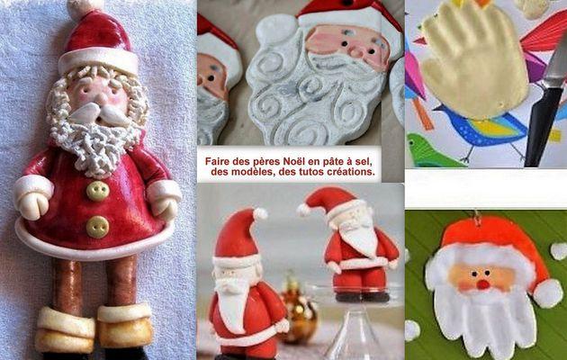 Faire un Père Noël en pâte à sel, les tutos