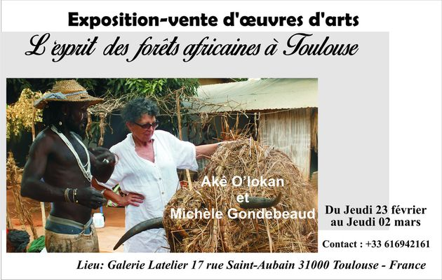 Toulouse - France: Exposition d'oeuvres d'arts africains